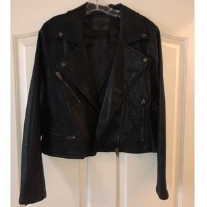 Fake leather jacket